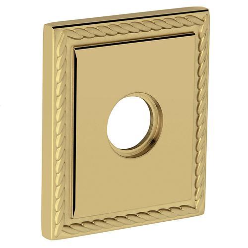Baldwin - Non-Lacquered Brass R036 Square Rope Rose