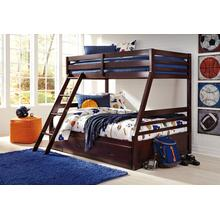 Halanton Twin/Full Bunk Bed W/Under Bed Storage Dark Brown