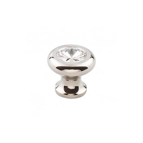 Hayley Crystal Knob Clear 1 3/16 Inch - Polished Nickel