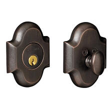 View Product - Distressed Oil-Rubbed Bronze Arched Deadbolt
