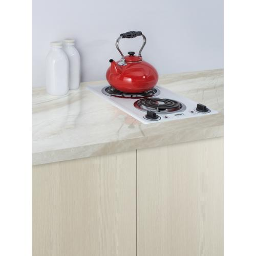 "12"" Wide 230v 2-burner Coil Cooktop"