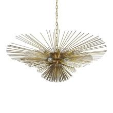Be Thinking of the #hashtag for This Chandelier Because Your Dinner Guests Will Not Be Able To Stop Sharing It Online! Inspired By the Magical Sea Urchin, This Spectacular Pendant Takes Center Stage In Your Grand Foyer or Dining Room. Finished In Antique Brass With A 6' Chain and Canopy for Your Custom Installation.