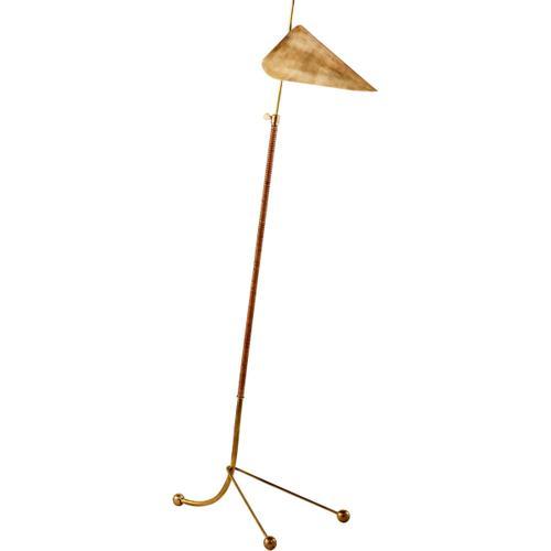 AERIN Moresby 56 inch 60 watt Hand-Rubbed Antique Brass Floor Lamp Portable Light