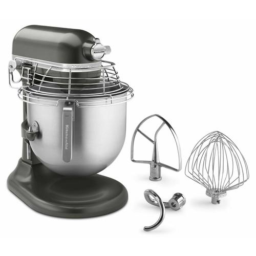KitchenAid - NSF Certified® Commercial Series 8 Quart Bowl-Lift Stand Mixer with Stainless Steel Bowl Guard - Dark Pewter