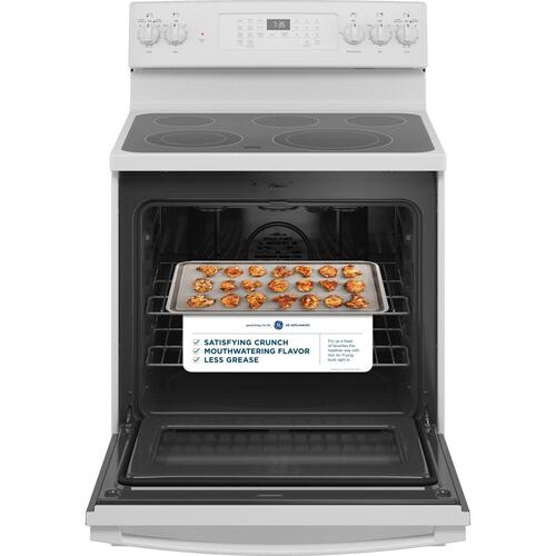"GE® 30"" Free-Standing Electric Convection Range with No Preheat Air Fry"