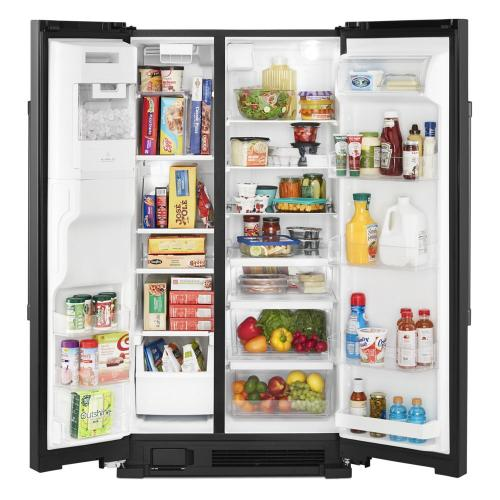 Maytag - 36-Inch Wide Side-by-Side Refrigerator with Exterior Ice and Water Dispenser - 25 Cu. Ft.