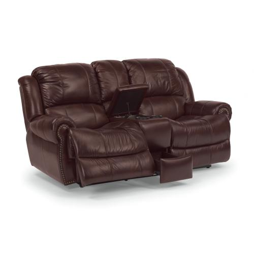 Product Image - Capitol Power Reclining Loveseat with Console