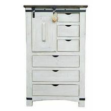 See Details - White/coffee Barn Door Chest