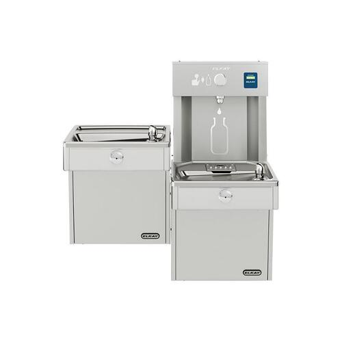 Elkay EZH2O Vandal-Resistant Bottle Filling Station, & Bi-Level Cooler, Non-Filtered Non-Refrigerated Stainless