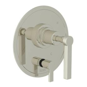 Lombardia Pressure Balance Trim with Diverter - Polished Nickel with Metal Lever Handle
