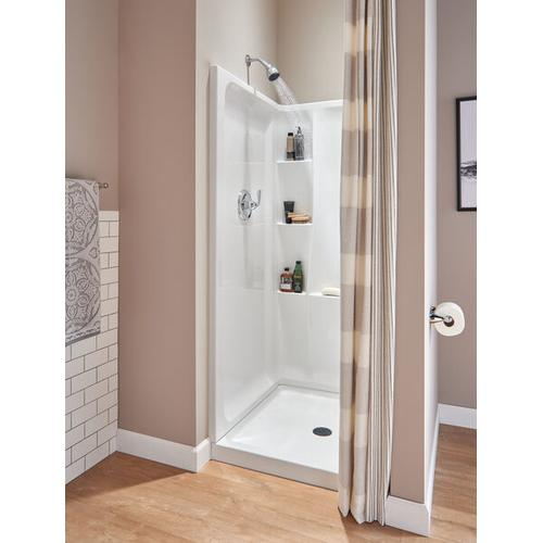 """High Gloss White 36"""" X 36"""" Shower Wall Set"""