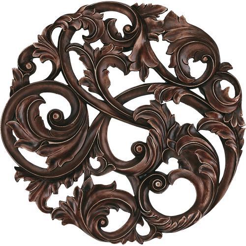 Aged Copper Leaf Swirl