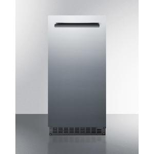 """Summit15"""" Wide 62 Lb. Built-in Undercounter Commercially Listed Indoor/outdoor Clear Icemaker With Internal Pump and Complete Stainless Steel Exterior Finish"""