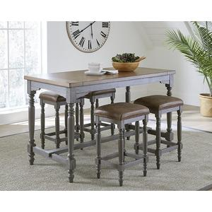 Counter Dining Table - Oak/Brushed Gray Finish