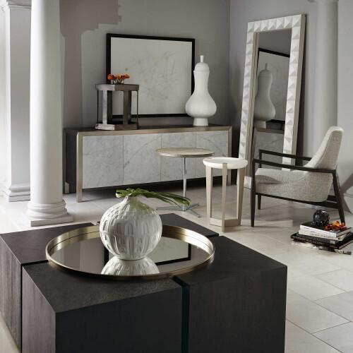 Bernhardt - Axiom Accent Table in Linear Gray (381)