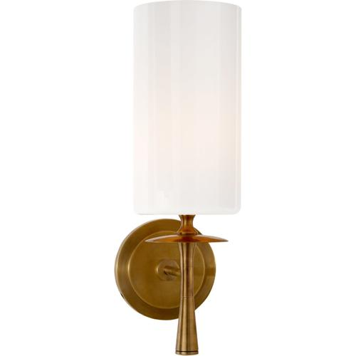 AERIN Drunmore 1 Light 5 inch Hand-Rubbed Antique Brass Single Sconce Wall Light
