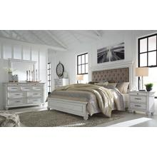 Kanwyn - Whitewash King Bedroom Set: King Bed, Nightstand, Dresser & Mirror