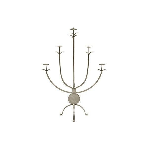 "Bring A Brilliant Brightness To Any Room With Our Large, Five Arm Alonso Candle Holder. Standing Tall At 43"" and Hand Finished With Silver Leaf, the Alonso Candle Holder Makes A Bold Statement On A Large Console or as A Fireplace Accessory. Shine On!"