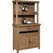 See Details - Server-Concrete Top with Hutch- Blonde