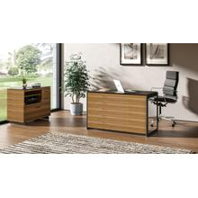 See Details - Sequel 20 6108 Compact Desk Back Panel in Natural Walnut
