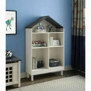 ACME Doll Cottage Bookcase - 92224 - Weathered White & Washed Gray Product Image