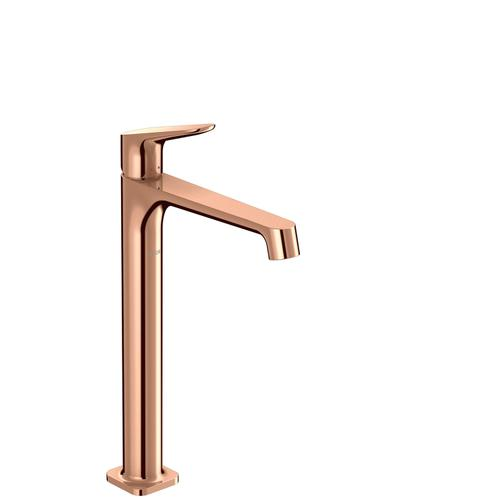 Polished Red Gold Single lever basin mixer 250 for wash bowls with waste set
