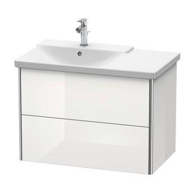 Vanity Unit Wall-mounted, White High Gloss (lacquer)