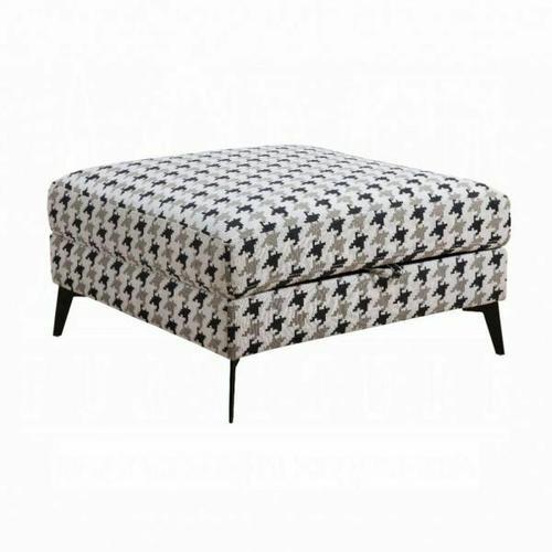 ACME Crocosmia Ottoman (Storage) - 53102 - Pattern Fabric