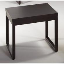 End Table - Dark Chocolate Finish