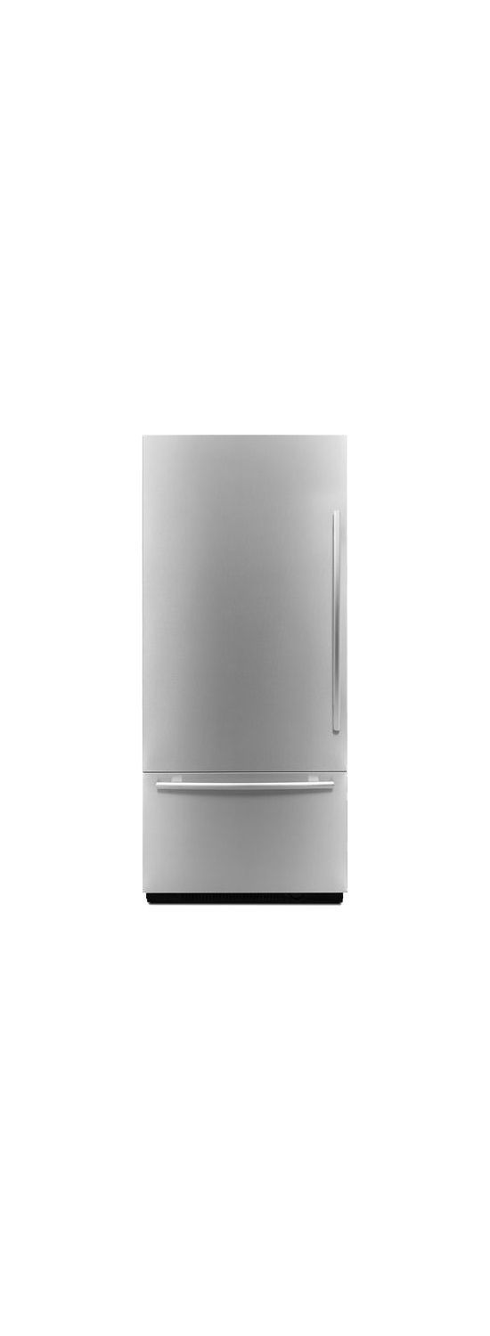 "Euro-Style 36"" Fully Integrated Built-In Bottom-Freezer Left-Hand Door Swing Stainless Steel"