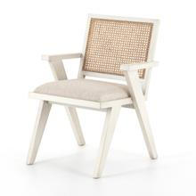Distressed Cream Finish Flora Dining Chair