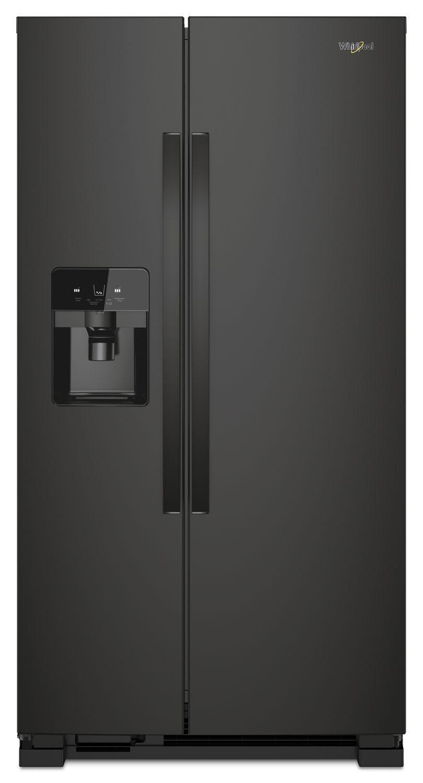 Whirlpool33-Inch Wide Side-By-Side Refrigerator - 21 Cu. Ft. Black