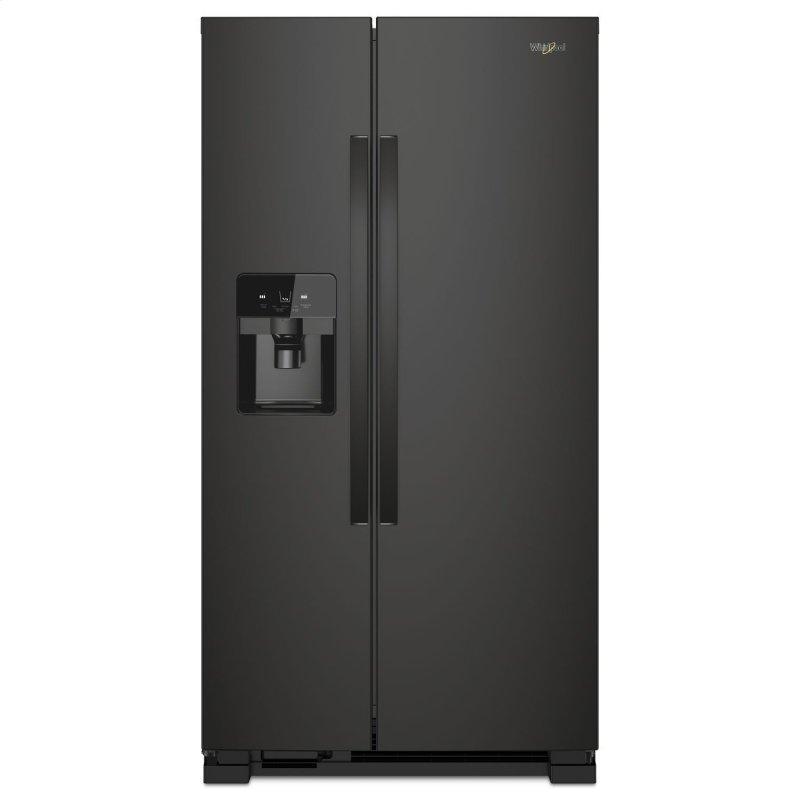 33-inch Wide Side-by-Side Refrigerator - 21 cu. ft. Black