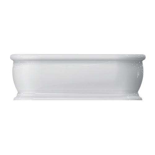"Claremont 69"" Acrylic Double Roll Top Tub with Integral Drain and Overflow - Polished Nickel Drain and Overflow"