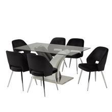 See Details - 7-piece Dining Set - Black