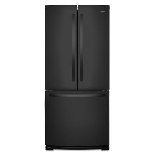 Whirlpool - 30-inch Wide French Door Refrigerator - 20 cu. ft. Black