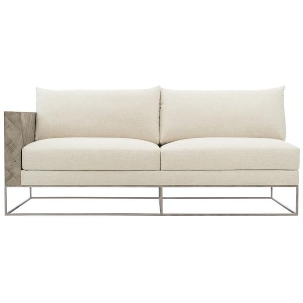 Brooklyn Left Arm Loveseat in Morel
