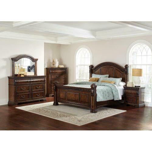 Satterfield Traditional Warm Bourbon Eastern King Bed