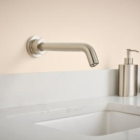 Serin Wall-Mount Proximity Faucet, Battery Powered - Brushed Nickel