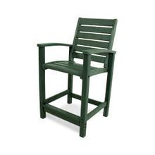 See Details - Signature Counter Chair in Green