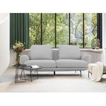 View Product - Divani Casa Dolly - Modern Light Grey Fabric Sofa