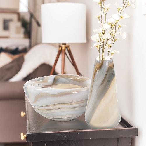 Howard Elliott - Sand Art Tapered Glass Vase