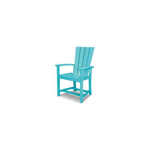 Polywood Furnishings - Quattro Adirondack Dining Chair in Aruba