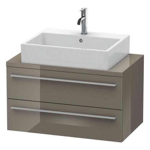 Duravit - Vanity Unit For Console Compact, Flannel Gray High Gloss (lacquer)