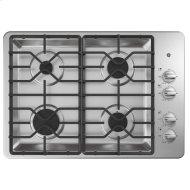 "30"" Built-In Gas Cooktop with Dishwasher-Safe Grates"