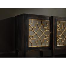 See Details - Sanctuary Four Door Mirrored Console- Ebony