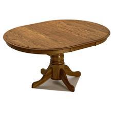 """See Details - Classic Oak Burnished 42"""" Pedestal Table"""