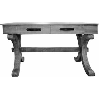 See Details - Charcoal Gray Writing Desk