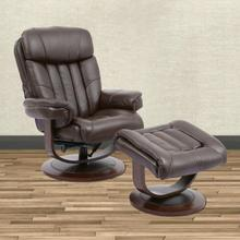 View Product - PRINCE - ROBUST Manual Reclining Swivel Chair and Ottoman