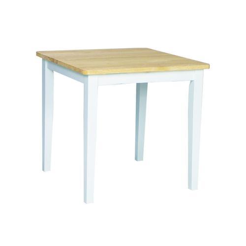John Thomas Furniture - Square Table in White/Natural
